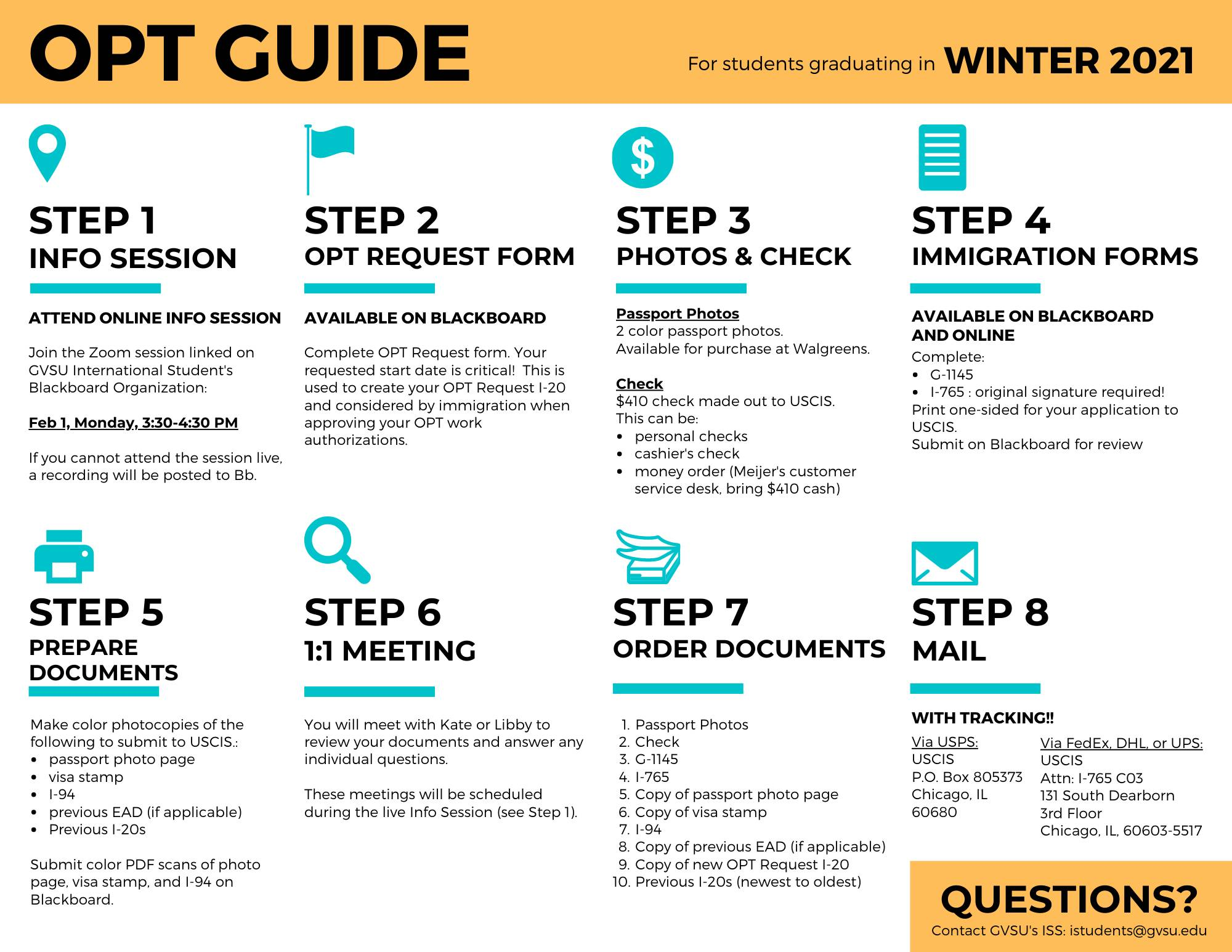 OPT Application Guide Winter 2021